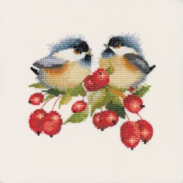 Berry Chick-Chat by Valerie Pfeiffer Cross Stitch Kit